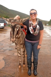 I like this pic of me. Adventure, animal, travel, and I miss that scarf.