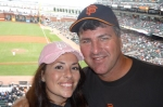 Me and dad at the Giants game!