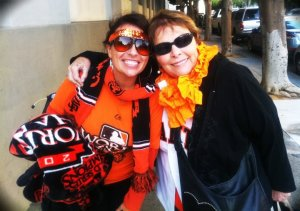 me and gma loving our Giants.