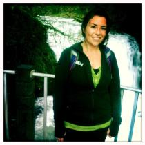 top of the waterfall on a great hike :)