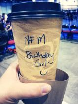 "a stranger bought me this...he said ""no one should pay for their drinks on their birthday!"" :)"