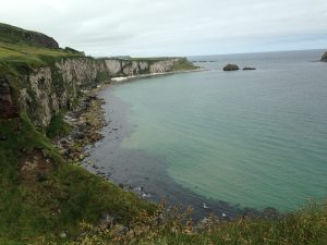 Beautiful sea of Carrick a Rede bridge