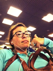 waiting in the airport taking up two electrical outlets like a BOSS. Two hours sleep. Yee yee!