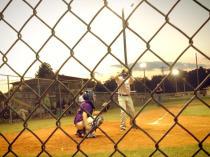 Drew up to bat - hit a triple.
