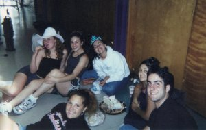 "my 17th bday, at rehearsal for ""Godspell,"" just living the teenage dream."