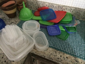seriously. for inner peace, get rid of all tupperware that doesn't match. and for God's sake - STORE THEM WITH THE LID ON. I don't understand any other way. I threw all of this out.
