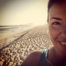 first beach run!