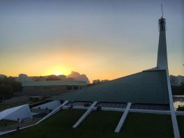 sunrise from school.