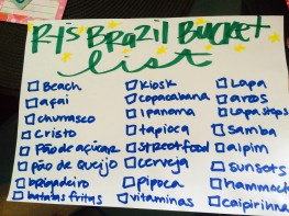 My bucket list for Ry for this week.