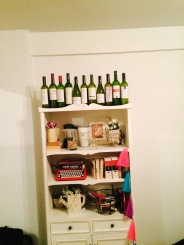 bye, bottles of wine we drank in our apartment.