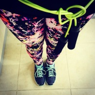 it's Fitness is Fun month, so I got to wear workout pants and tennis shoes and a jumprope as a belt #winning.
