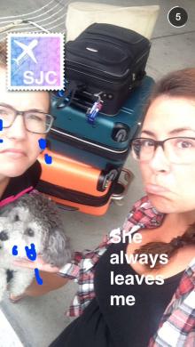 saying goodbye! waaaahhhh always miss my hooman and canine sisters