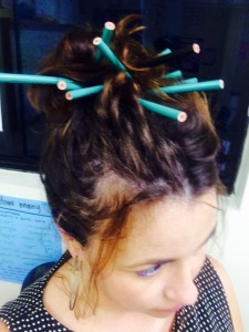 this is what i start doing after a certain part. the answer is 15. i can fit 15 pencils in my hair.