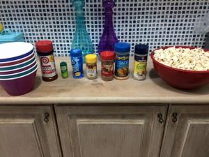 has anyone invented a popcorn bar yet? i think i invented it. only way to watch movies.
