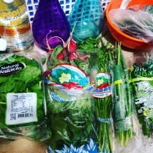 i got a little ambitious in the produce aisle....it took a lot of internet to figure out what to do with all this green.