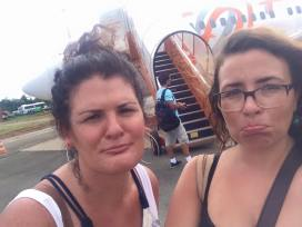 "the ""sad to leave"" selfie. We're not quite as good as brasileras but we are working on it."