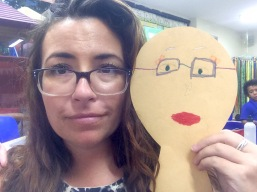"modeled for this craft in second grade, which was called ""What I will look like when I am 100 years old."""