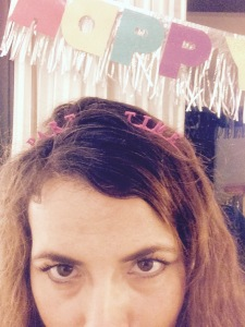 """this headband said """"party time"""" but then I broke it on accident so now it more accurately describes how much im adulting."""