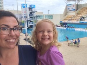 Jossy and I at the Olympic Diving pool!!!