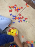 working with the littles, seeing these manipulatives, feeling the wooden, dried snot feel of them. . . so many mems!
