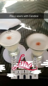 pisco sours, the official drink of Peru