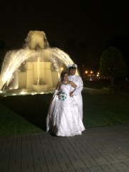 a really cute Peruvian couple we watched get married at the fountain park.