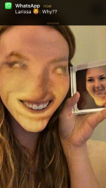 google hangout sister face swap grossness.