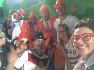 picture with team holland and team germany!
